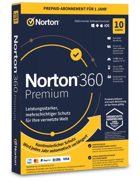 Norton 360 Premium 10 User / Geräte für 1 Jahr - ESD