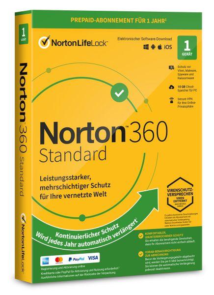 Norton 360 Standard 2021 / 2022 - 1 User / Gerät für 1 Jahr - ESD